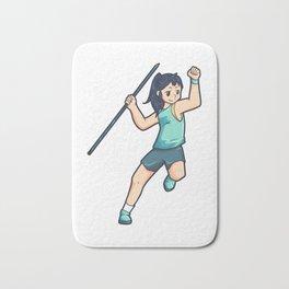 Javelin Athlete Sport girl woman cool Bath Mat