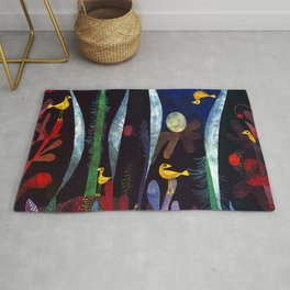 Paul Klee Landscape with Yellow Birds Rug