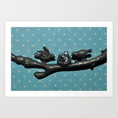 Bird love Art Print