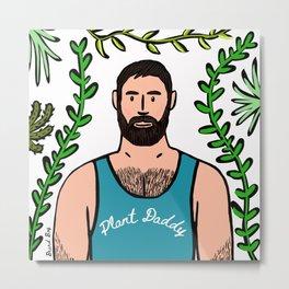 Beard Boy: Plant Daddy Metal Print