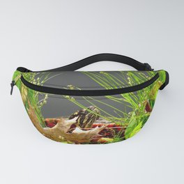 Turtle hiding in the leaves Fanny Pack