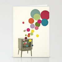 tv Stationery Cards featuring Colour Television by Cassia Beck
