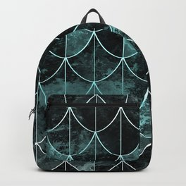 Mermaid scales. Mint and black. Backpack