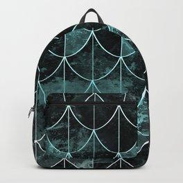 Mermaid scales. Mint and black. Backpack