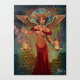 Live Painting: Sweet Justice Canvas Print