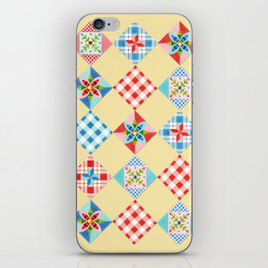 Country Days Patchwork Design iPhone & iPod Skin
