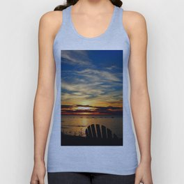 Peace and Relaxation at the Sea shore Unisex Tank Top