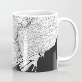 Toronto Map Gray Coffee Mug