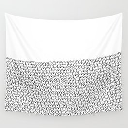simple black and white doodle scaley pattern Wall Tapestry