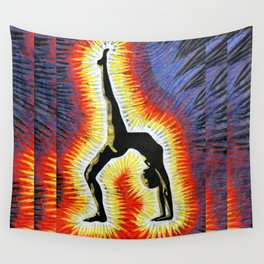 Yoga Backbend Wall Tapestry