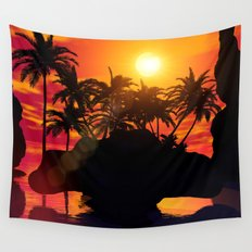 Wonderful sunset  Wall Tapestry