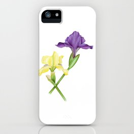 Watercolor irises iPhone Case