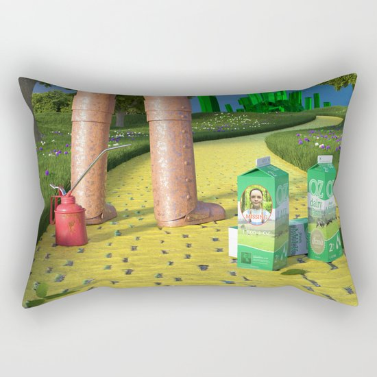 Dorothy is missing - Dorothy a disparu Rectangular Pillow
