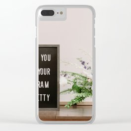 Life on insta Clear iPhone Case