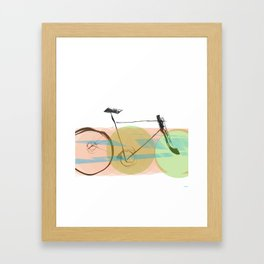 Bicycle Motion Framed Art Print
