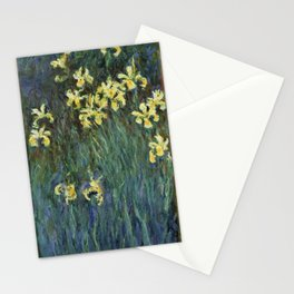 "Claude Monet ""Yellow irises"" Stationery Cards"