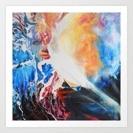 I wish upon the stars, 100-100cm, 2017, oil on canvas Art Print