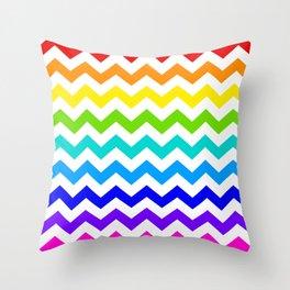 Chevron Rainbow  Throw Pillow