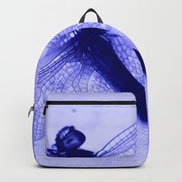 Dragonfly Frozen in Blue Backpack
