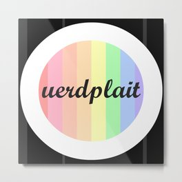 Ouerdplait Logo Metal Print