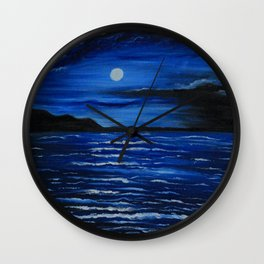 Dark night Wall Clock