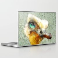 karu kara Laptop & iPad Skins featuring abstract ostrich by Ancello