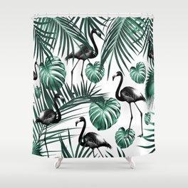 Tropical Flamingo Pattern #6 #tropical #decor #art #society6 Shower Curtain