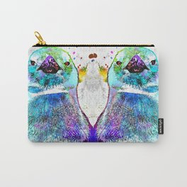 Penguin Watercolor Grunge Carry-All Pouch