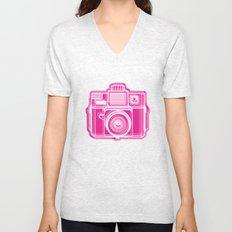 I Still Shoot Film Holga Logo - Pink Unisex V-Neck
