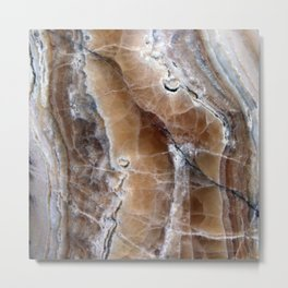 Marble Paint Formation Metal Print