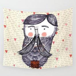 Bearded Lumberjack Man Wall Tapestry