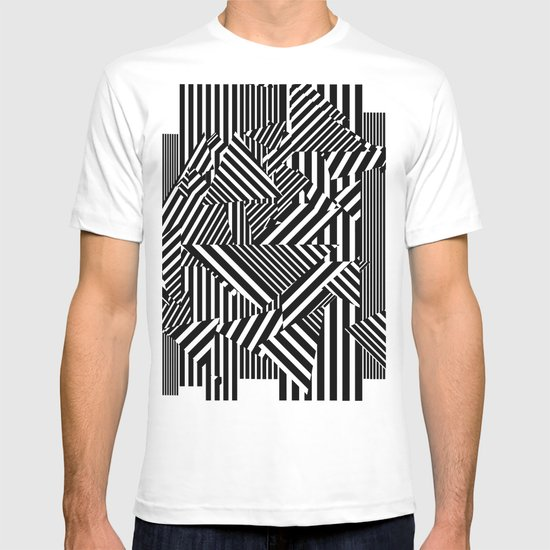 Dazzle Camo #01 - Black & White T-shirt
