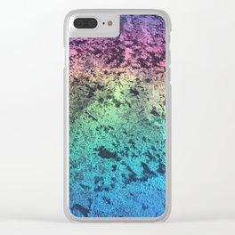 rainbow velvet Clear iPhone Case