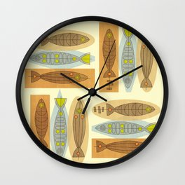 Fish In A Midcentury Modern Style Wall Clock