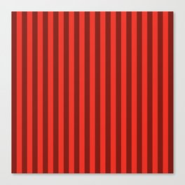 Scarlet Red Stripes Pattern Canvas Print