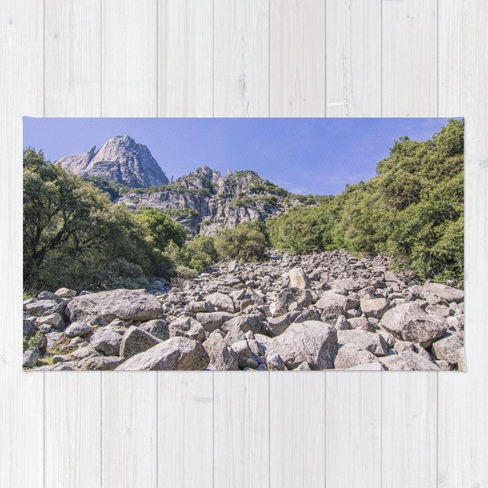 Yosemite Park Rocks Rug