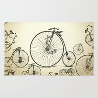 bicycle Area & Throw Rugs featuring Bicycle by mark ashkenazi