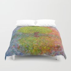 Self-knowledge in the drop of water Duvet Cover
