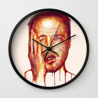 jesse pinkman Wall Clocks featuring Jesse Pinkman by beart24