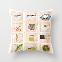 Japanese Food Throw Pillow