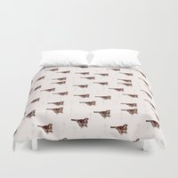jack sparrow Duvet Covers featuring Sparrow by Fine Cut