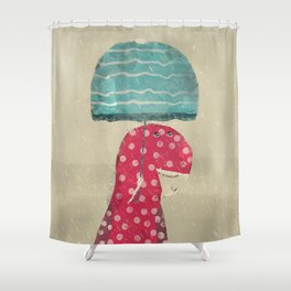 its raining again Shower Curtain