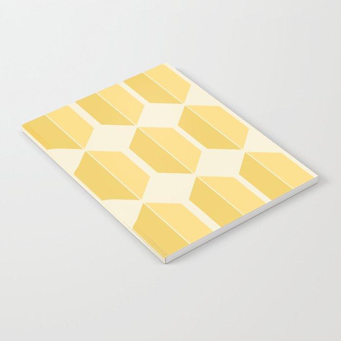 Hexagonal Pattern - Golden Spell Notebook