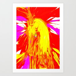 Fire Unicorn Art Print
