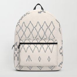 Moroccan Patchwork in Cream and Grey Backpack