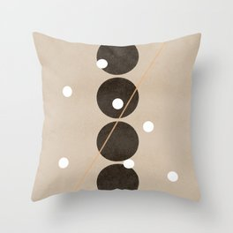 Connecting dots, minimalistic artworks Throw Pillow
