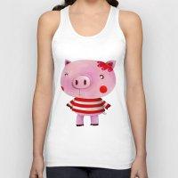 piglet Tank Tops featuring Piglet by Gabriela Granados