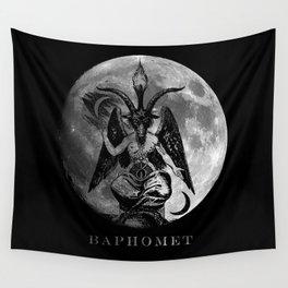 Baphomet Moon Wall Tapestry