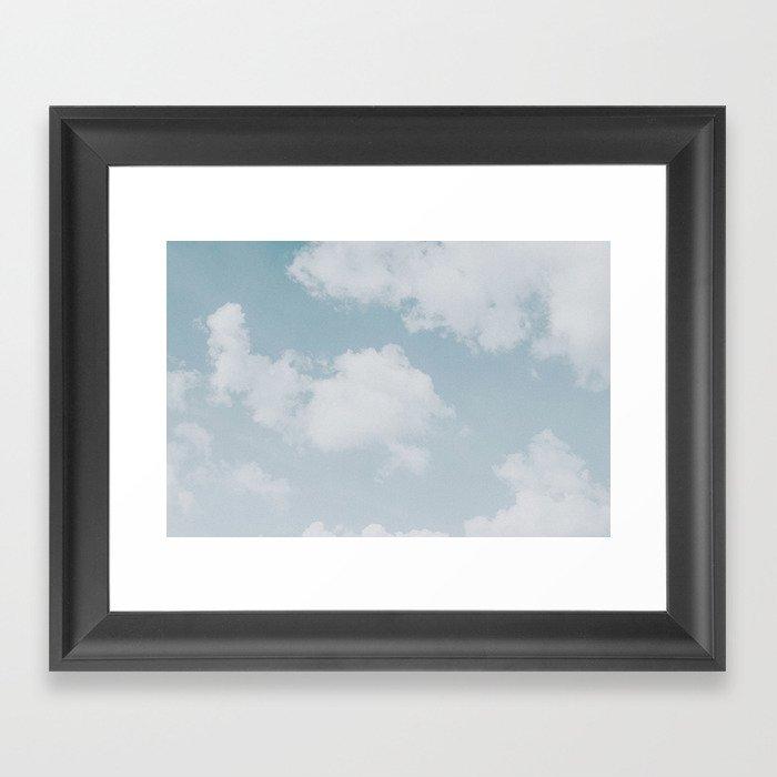 summer clouds Gerahmter Kunstdruck