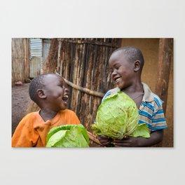 Cabbage Kids in Ethiopia  Canvas Print